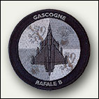 Patch rond Rafale B gris - 6 euros