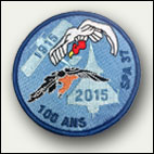 Patch rond 100 ans SPA 37 - 8 euros